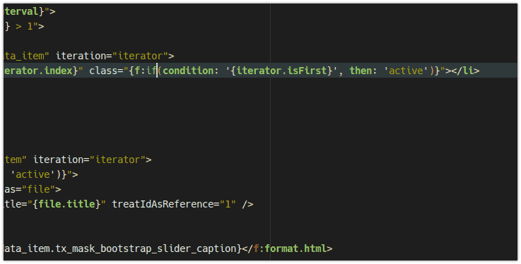 Also with the use of the Inline syntax a meaningful Highlighting, as well as Brace Matching is offered