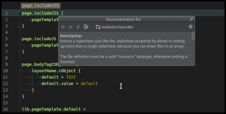 TypoScript support for PHPStorm, WebStorm and IntelliJ - sgalinski
