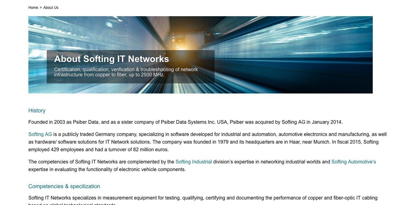Reference: Softing IT Networks GmbH  - sgalinski