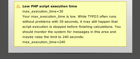 Low PHP execution time