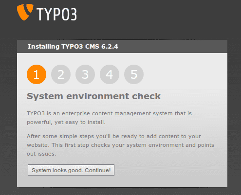 Correct System environment check