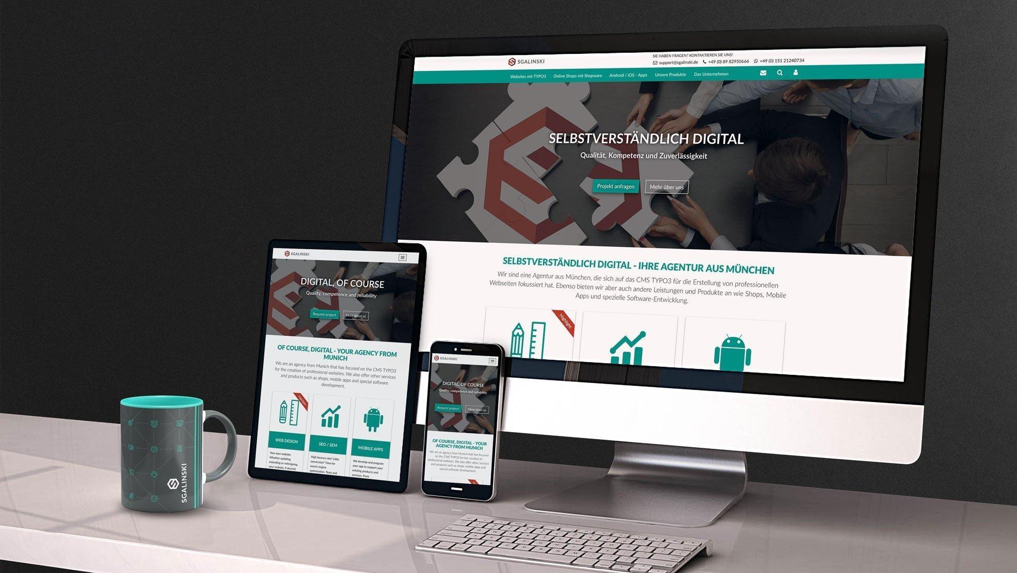 Ihre Agentur Für Typo3 Webdesign Mobile Apps Shops Sgalinski